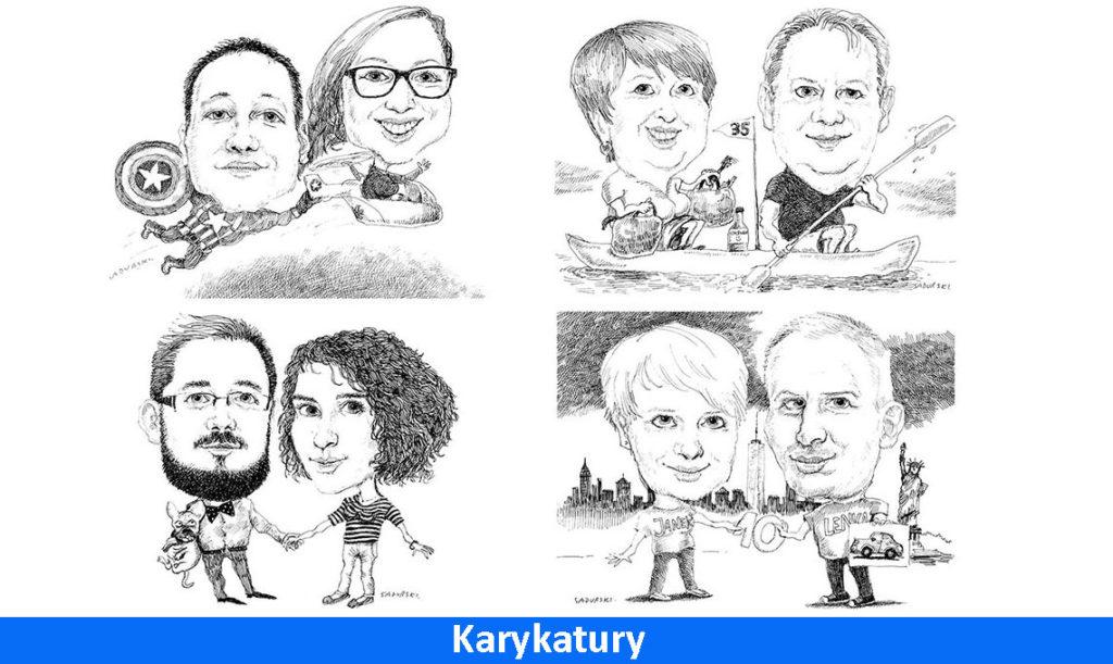 karykatury portrety humor