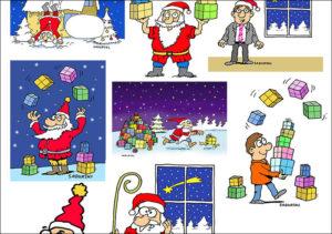 ilustracja prasowa rysunki Mikołaj święta