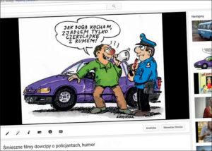 humor rysunki o policjantach