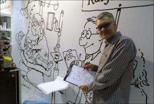atrakcje targi karykaturzysta stoisko targowe