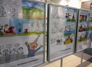 humor wystawa centrum handlowe karykatury