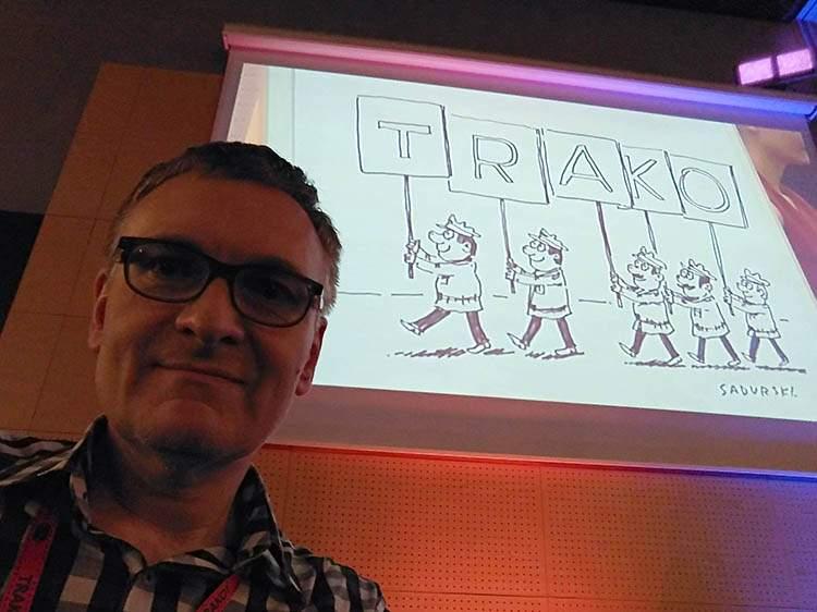 sketchnotes konferencje rysunki na żywo TRAKO Gdańsk Sadurski rysownik