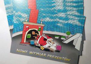 mikołaj Boże Narodzenie święta marketing promocje reklama rysunki humor wigilia firmowa