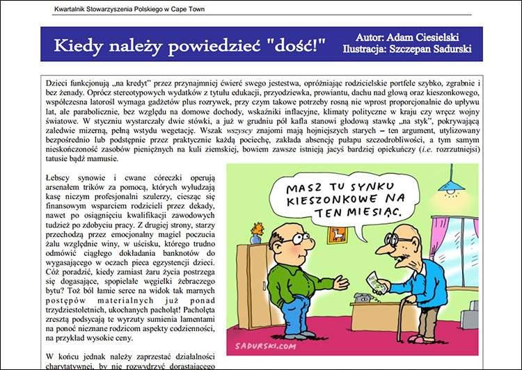 czasopisma ilustracje prasa rysunki rysownik ilustracja