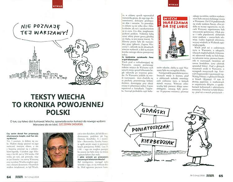 Warszawa da się lubić Wiech Szczepan Sadurski