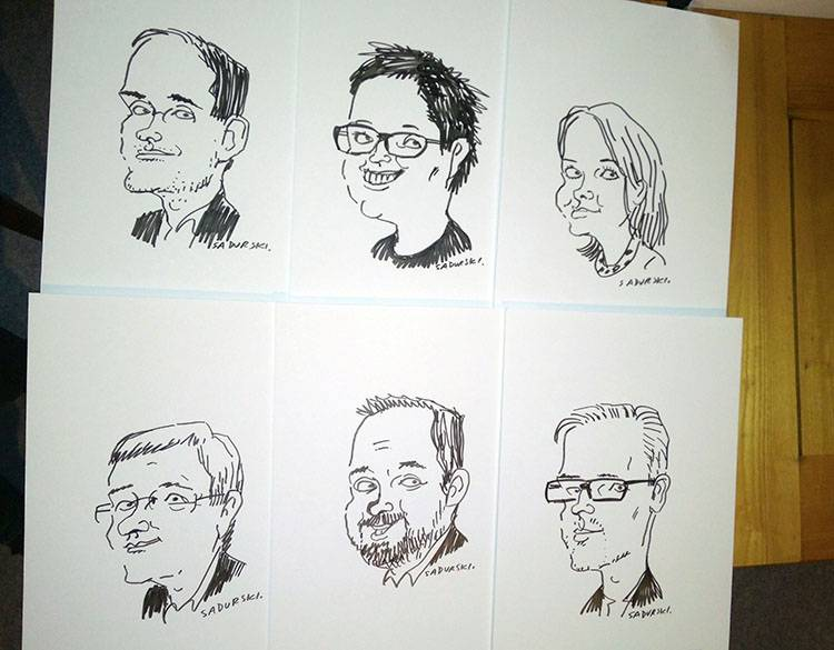 atrakcje na event Warszawa karykaturzysta karykatury karykatura eventy imprezy firmowe