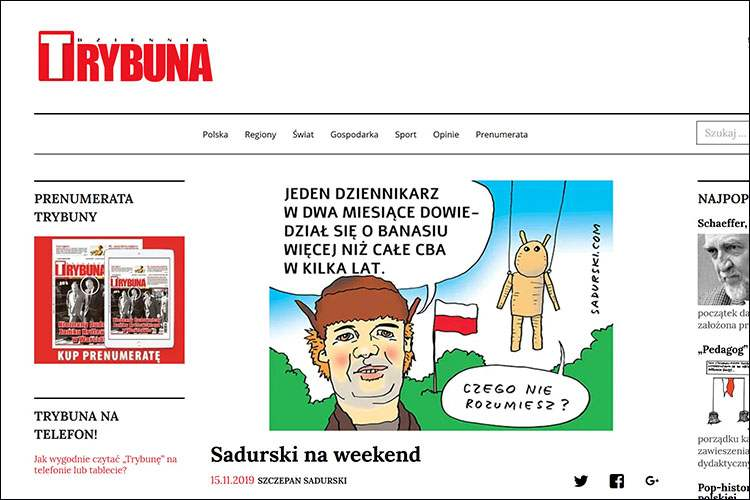 Sadurski na weekend Trybuna komentarze satyryczne rysunkowe