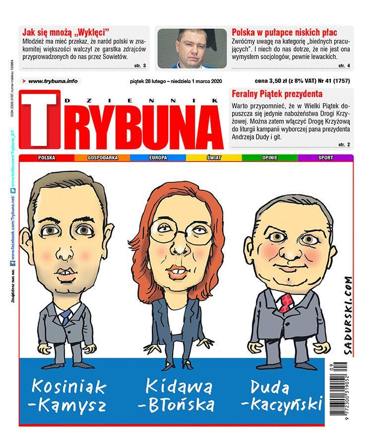 Kidawa-Błońska Kosiniak-Kamysz Andrzej Duda Jarosław Kaczyński karykatury polityków