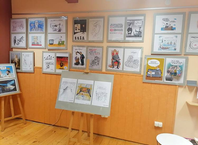 Kiwity rysunek prasowy konkurs wystawa Olsztyn