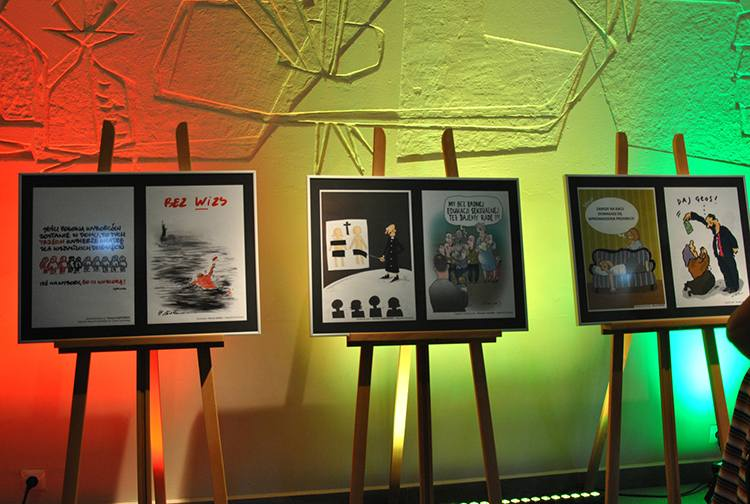 Mrągowo rysunek prasowy konkurs wystawa Olsztyn