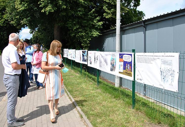 Pieniężno rysunek prasowy konkurs wystawa Olsztyn
