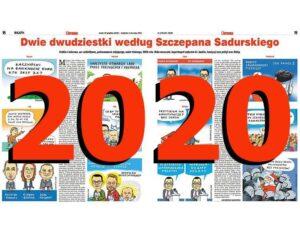 komentarze satyryczne rysunkowe podsumowanie roku 2020 rok satyra rysunki Szczepan Sadurski