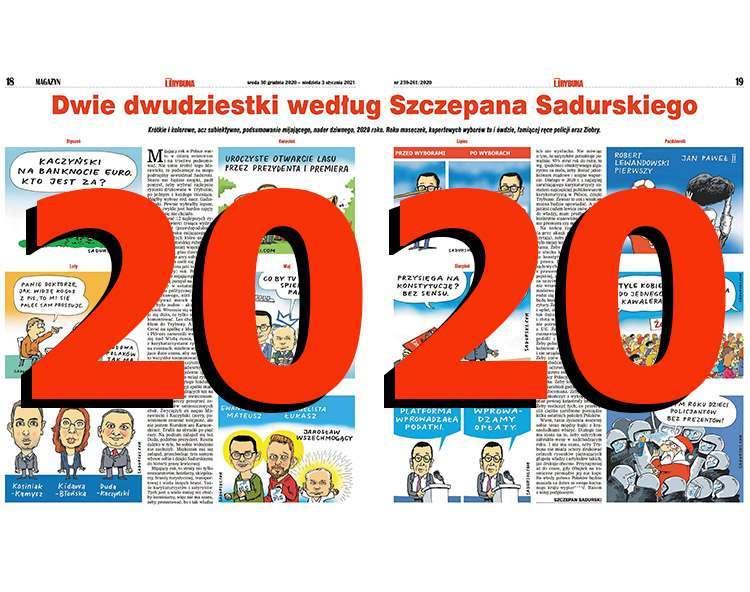 komentarze satyryczne rysunkowe podsumowanie roku 2020 rok satyra rysunki polityczne Szczepan Sadurski