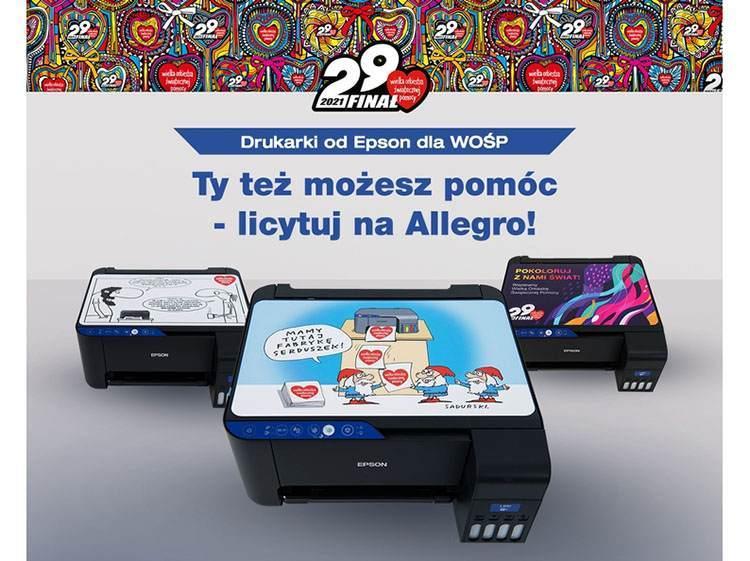 WOŚP Epson Szczepan Sadurski drukarka rysunek