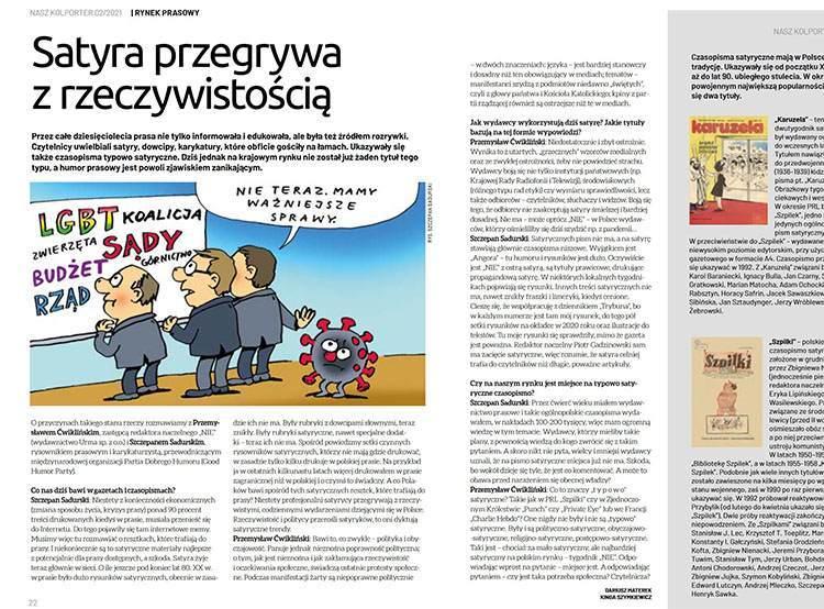 satyra polska pisma satyryczne prasa satyryczna Szczepan Sadurski