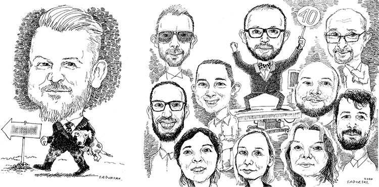 karykaturzysta Łódź karykatury w Łodzi ze zdjęć na prezent