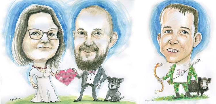olsztyński karykaturzysta Olsztyn karykatury ze zdjęć na prezent